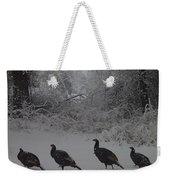 Wild Turkey Winter Weekender Tote Bag
