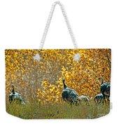 Wild Turkeys And Fall Colors Weekender Tote Bag