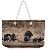 Wild Turkeys Weekender Tote Bag by Lori Deiter