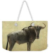 Wildebeest Weekender Tote Bag by James W Johnson