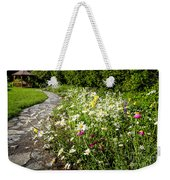 Wildflower Garden And Path To Gazebo Weekender Tote Bag