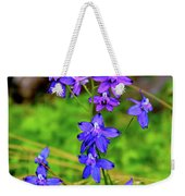 Wildflower Larkspur Weekender Tote Bag