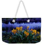 Wildflower Reflection Weekender Tote Bag