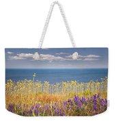 Wildflowers And Ocean Weekender Tote Bag