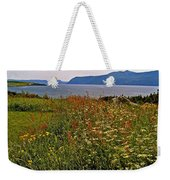 Wildflowers At Lobster Cove Head In Gros Morne Np-nl Weekender Tote Bag