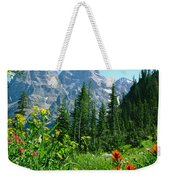 1m9372-v-wildflowers In Cascade Canyon, Tetons Weekender Tote Bag