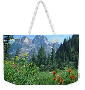 1m9371-h-wildflowers In Cascade Canyon, Tetons Weekender Tote Bag