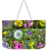 Wildflowers Mosaic Weekender Tote Bag