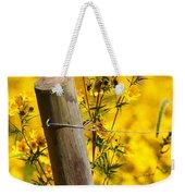 Wildflowers On Fence Post Weekender Tote Bag