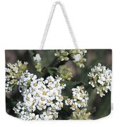 Wildflowers - White Yarrow Weekender Tote Bag