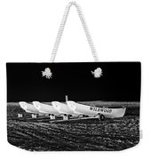 Wildwood Lifeboats At Night In Black And White Weekender Tote Bag
