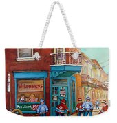 Wilensky Montreal-fairmount And Clark-montreal City Scene Painting Weekender Tote Bag by Carole Spandau