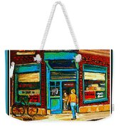 Wilenskys Art Famous Blue Door Posters Prints Cards Originals Commission Montreal Painting Cspandau  Weekender Tote Bag