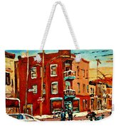 Wilenskys Hockey Art Paintings Originals Commissions Prints Montreal Deps Street Art Carole Spandau  Weekender Tote Bag