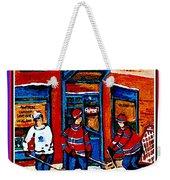 Wilenskys Hockey Art Posters Prints Cards Originals Commission Montreal Paintings Contact C Spandau Weekender Tote Bag