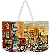Wilenskys Hockey Paintings Montreal Commissions Originals Prints Contact Artist Carole Spandau  Weekender Tote Bag