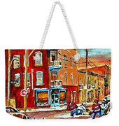 Wilenskys Paintings Hockey Art Prints Originals Commissions Contact Popular Montreal Artist Cspandau Weekender Tote Bag