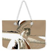 Will Rogers Informal Portrait Unknown Photographer Or Location 1924-2014  Weekender Tote Bag