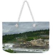 Willamette Falls River Scene  Weekender Tote Bag