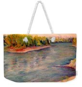 Willamette River Reflections - Morning Light Weekender Tote Bag