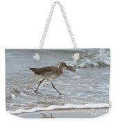 Willet With Mole Crab Weekender Tote Bag
