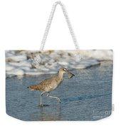 Willet With Sand Crab Weekender Tote Bag