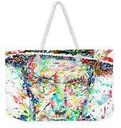 William Burroughs Watercolor Portrait Weekender Tote Bag