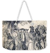 William Penns Treaty With The Indians Weekender Tote Bag