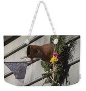 Williamsburg Bird Bottle 1 Weekender Tote Bag by Teresa Mucha