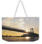 Williamsburg Bridge - Sunset - New York City Weekender Tote Bag