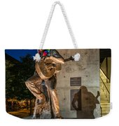 Austin Willie Nelson Statue Weekender Tote Bag