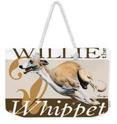 Willie The Whippet Weekender Tote Bag by Liane Weyers