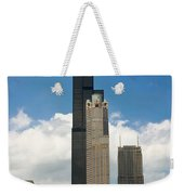Willis Tower Aka Sears Tower Weekender Tote Bag by Adam Romanowicz