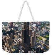 Willis Tower Chicago Aloft Weekender Tote Bag by Steve Gadomski