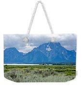 Willow Flats Overlook In Grand Teton National Park-wyoming   Weekender Tote Bag