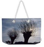 Willow Trees In Winter Weekender Tote Bag