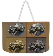 Willys Jeep Mb Car Drawing Weekender Tote Bag