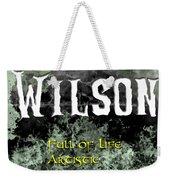 Wilson - Full Of Life Artistic Weekender Tote Bag by Christopher Gaston