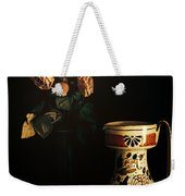 Wilted Roses With Italian Vase Weekender Tote Bag