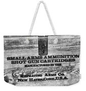 Winchester In Black And White Weekender Tote Bag
