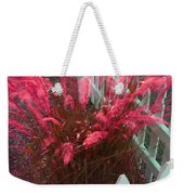 Wind In The Grass - Red Weekender Tote Bag
