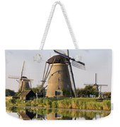 Wind Mills Next To Canal, Holland Weekender Tote Bag