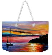Wind Of Hope - Palette Knife Oil Painting On Canvas By Leonid Afremov Weekender Tote Bag