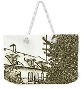 Wind Point Lighthouse Drawing Mode 2 Weekender Tote Bag