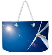Wind Turbine And Sun  Weekender Tote Bag by Johan Swanepoel