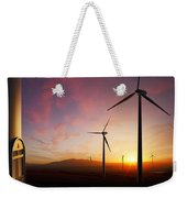 Wind Turbines At Sunset Weekender Tote Bag