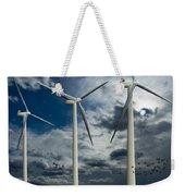 Wind Turbines Blue Sky Weekender Tote Bag