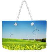 Wind Turbines On Spring Field Weekender Tote Bag