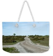 Winding Gravel Road Through A Landscape With Lots Of Junipers Weekender Tote Bag