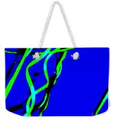 Winding Green And Blue Abstract Weekender Tote Bag
